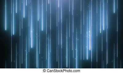 Neon blue animation VJ background with shiny particles