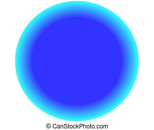neon blue circle ball on white background