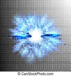 Neon blue light rays. EPS 10