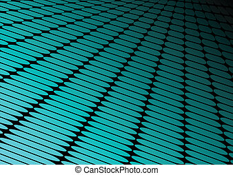 Neon blue techno floor perspective