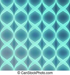 Neon Blue Vector Seamless Pattern