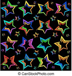Neon bright stars.