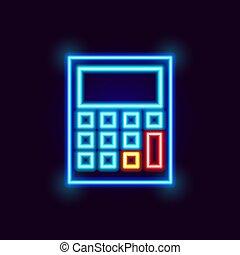 Neon Calculator Icon