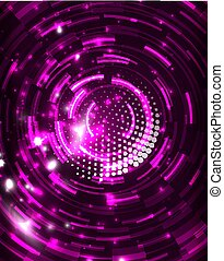 Neon circles abstract background - Neon purple circles...