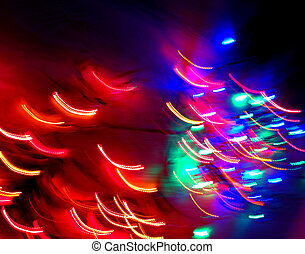 Neon city lights blurred background effect