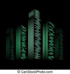 neon city, vector