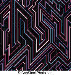 neon curve seamless texture