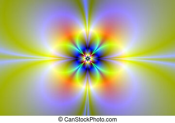 Neon Flower/Digital abstract image with a neon flower design...