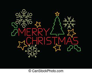 neon, frohe weihnacht