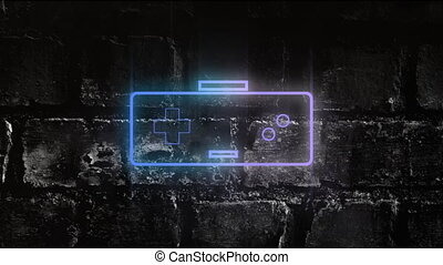 Neon game controller - Animation of a neon game controller ...