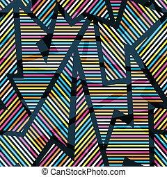 Neon geometric seamless pattern.
