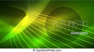 Neon glowing magic background, neon banner, night sky...