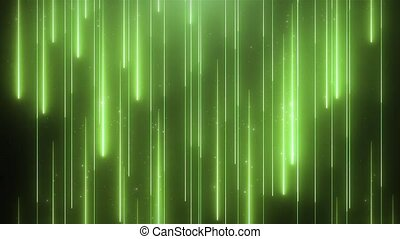 Neon green animation VJ background with shiny particles