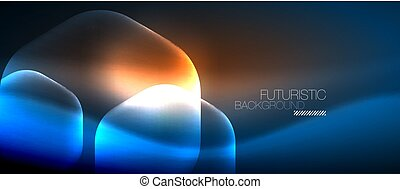 Neon hexagon background