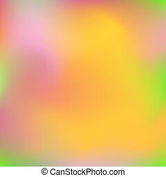 Neon holographic colorful vector background. Abstract soft pastel colors backdrop. In yellow, red, green and pink colors.