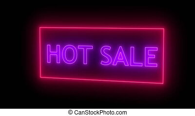 Neon hot sale sign. Seamless loop