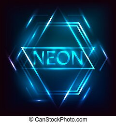 Neon inscription.