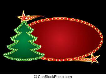 neon, karácsony
