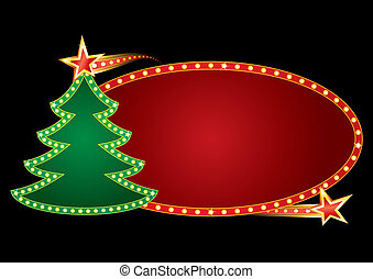 neon, kerstmis