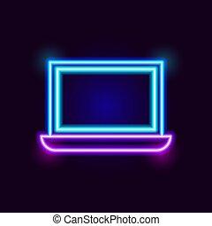 Neon Laptop Icon
