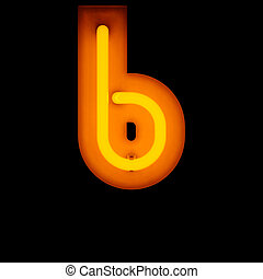 Neon Letter b lower case red neon alphabet collection