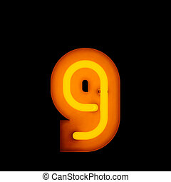 Neon Letter g lower case red neon alphabet collection