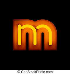 Neon Letter m lower case red neon alphabet collection