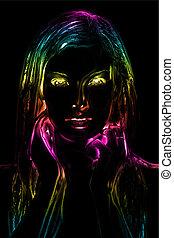 Neon light abstract digital art
