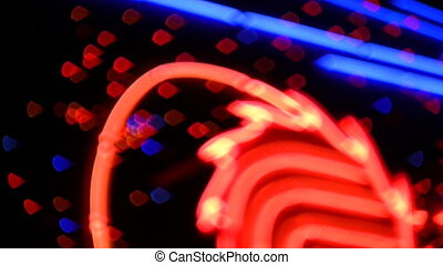 neon light defocused