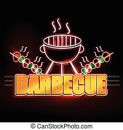 Neon Light signboard for Barbecue