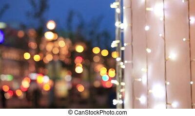 Neon lights on the street.
