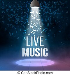 Neon Live Music Concert Acoustic Party Poster Background...