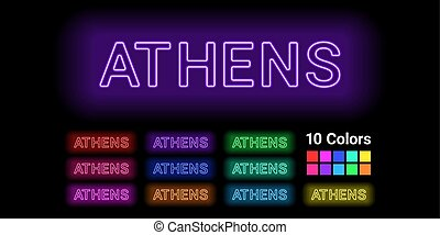 Neon name of Athens city