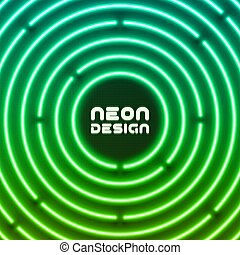 Neon original background design for cover, flyer, web