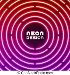 Neon original background design for cover, flyer, web