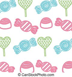 neon pattern sweet candies caramels background