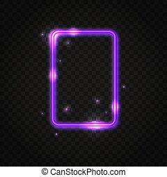 Neon purple rectangle frame with space for text