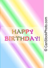 Neon Rainbow Happy Birthday