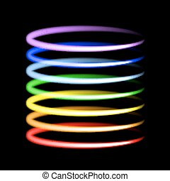 Neon rainbow light effects. Vector illustration.