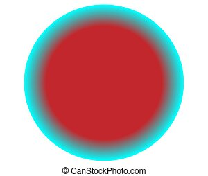 neon red blue circle ball on white background