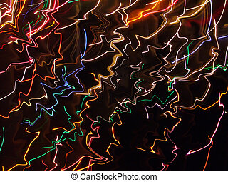 Neon Reflections - Time exposure photo of Christmas lights...