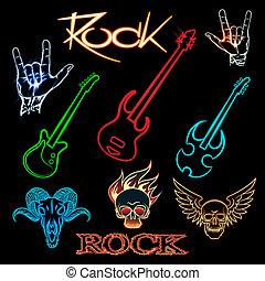 neon rock
