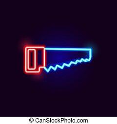 Neon Saw Icon