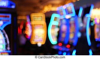 neon, schlitze, erleuchtet, usa., las vegas, jackpot, ...