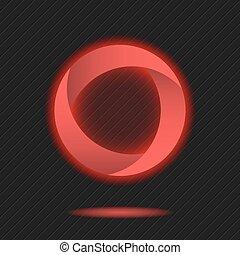 Neon segmented circle icon