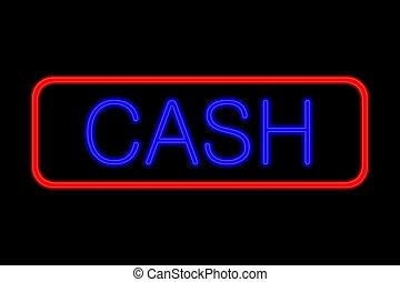 Neon Sign cash