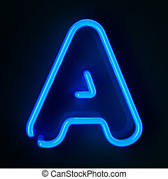 Highly detailed neon sign with the letter A
