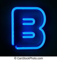 Neon Sign Letter B