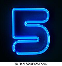 Neon Sign Number Five