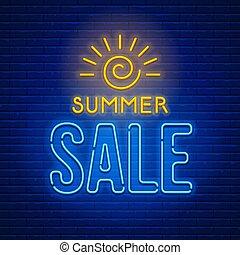 Neon sign Summer Sale